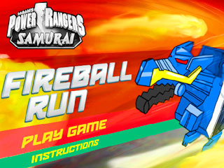 เกมส์ Power Rangers Fire Ball Run